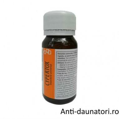 Substanta profesionala de contact contra gandacilor de bucatarie, gandacilor de canal70 mp - Cypertox 50 ml