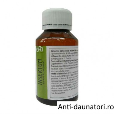 Solutie profesionala universala anti carii de lemn 100 mp - Insektum 100 ml