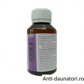 Solutie concentrata emulsionabila de culoare galbuie, impotriva cariilor de lemn ce acopera ~ 140 mp - Pertox 8 100 ml
