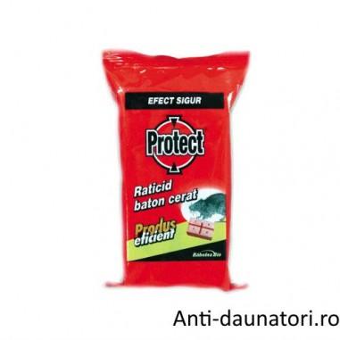Raticid baton cerat Protect ideal pentru spatii umede 4buc.x 50gr
