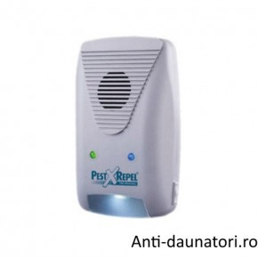Aparat cu ultrasunete si unde electromagnetice 3 in 1 Pest Repeller 500.3 anti lilieci 220 mp