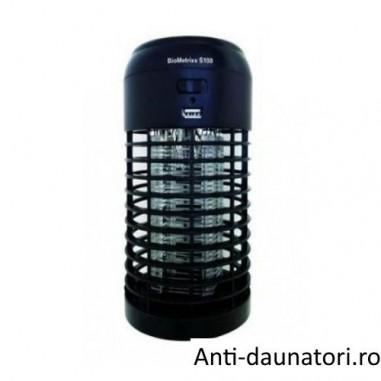 Biometrixx S100 - Aparat cu lampa UV anti tantari, muste, viespi, molii, fluturi, portabil, ideal pentru pescari, drumetii, camping 20 mp