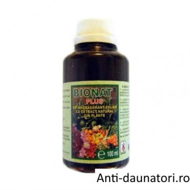 Ingrasamant foliar cu extract natural din plante Bionat Plus 100 ml