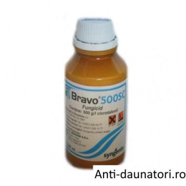 Fungicid de contact cu spectru larg de combaterea bolilor Bravo 500 sc 200 ml