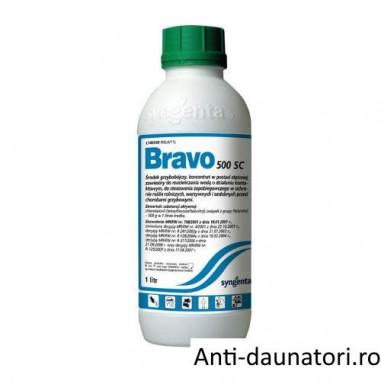 Fungicid de contact cu spectru larg de combaterea bolilor Bravo 500 sc 1L