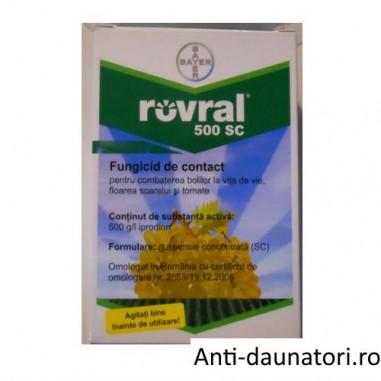 Fungicid de contact pentru combaterea putregaiului cenusiu Rovral 500 sc 100 ml