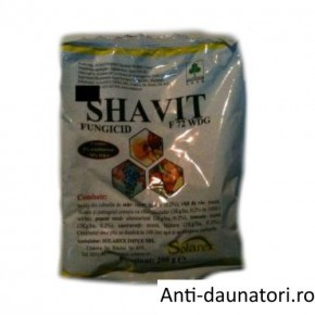 Fungicid complex cu actiune sistemica si de contact Shavit f 72 wp 200 gr.