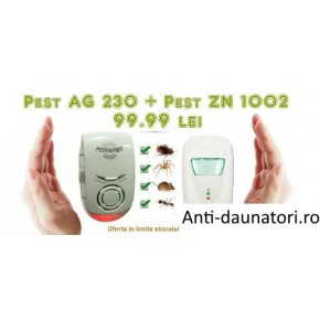 Pest Control Repeller ZN 1002 si Pest Repeller Ultimate AG 230 anti gandaci, anti soareci