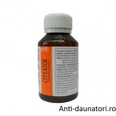 Insecticid profesional de contact si de ingestie anti molii 140 mp - Cypertox 100 ml